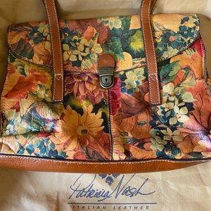 Handbags - Patricia Nash Multi Floral Italian Leather Bag